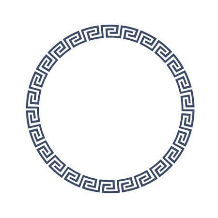 Rond sierlijst voor design in Griekse stijl. Stock Illustratie