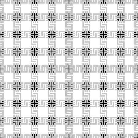 Grey checkered geometric seamless pattern. Vector background Illustration
