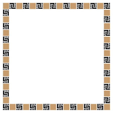 could: Simple geometric ethnic frame - variation 3. Could be used as decoration element for design.