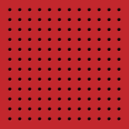 perforated: Perforated red seamless pattern. Vector background Illustration