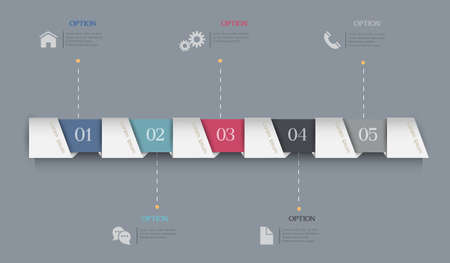 web template: Infographics Options  Paper Banners. Template for brochure, business, web design. Vector Design for Your Business