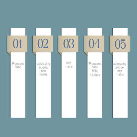 vertical dividers: Modern infographics white web design template. Vertical paper numbered banners. Vector EPS10