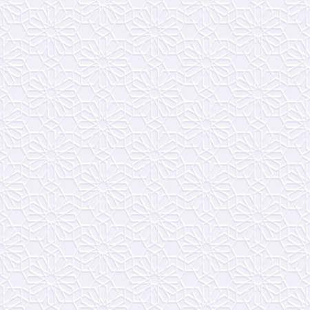 Weiß nahtlose Muster im arabischen Stil. Abstrakt Oriental Wallpaper. Islamischer Entwurf. Geometrische Vektor-Hintergrund Standard-Bild - 60086730