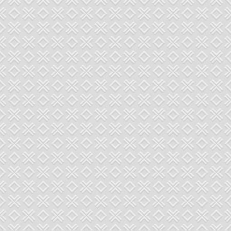 3 d: 3 D Checkered grey seamless pattern with cross and rhombus. Vector background Illustration