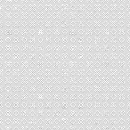 3 D Checkered gris modèle sans couture avec croix et losange. Fond de vecteur
