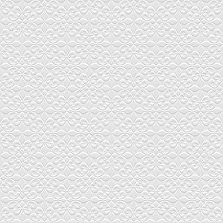 3d Grijs naadloos patroon met Franse lelies. Vector achtergrond. Bloemen Wallpaper