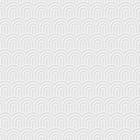 structured: White 3d Geometric striped seamless pattern with stylized waves. Structured wallpaper for design. Vector background