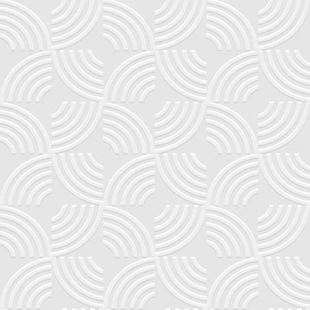 structured: White 3d geometric striped seamless pattern. Vector background. Structured wallpaper for design. Vector background