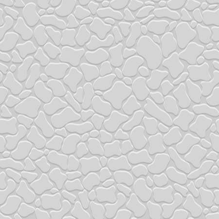pebble: Grey 3d seamless pattern with stylized stones. Vector texture background. Simple and stylish wallpaper with pebble for design