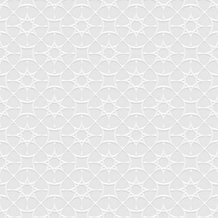 gray pattern: Grey Seamless Pattern in Arabian style with stylized stars. Abstract Oriental Wallpaper. Islamic Design. Geometric background
