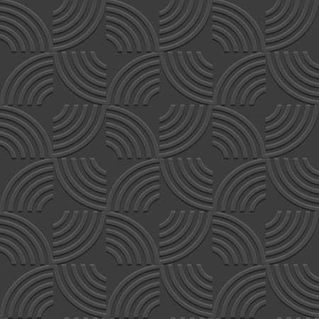 minimal: 3d Black Geometric striped seamless pattern. Vector background Illustration