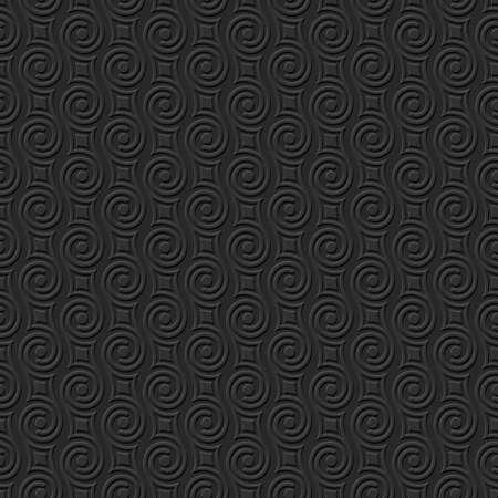 abstract swirls: 3d Black Stylish seamless pattern with swirls. Abstract seamless ornament. Vector background Illustration