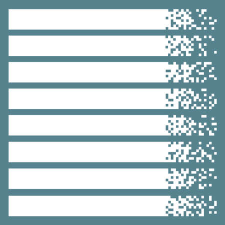 vector banners or headers: Set of white pixel banners for headers. Vector banners ready for your text or design Illustration