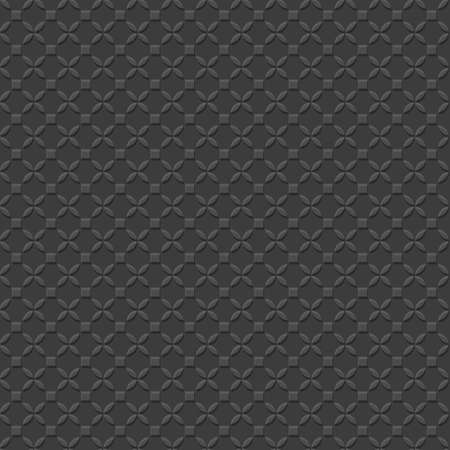 lacework: 3d Black Geometric Simple Seamless Pattern. Vector background