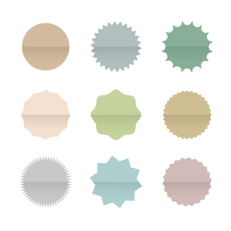 paper tags: Paper Blank Stickers and Tags Isolated on White Background. Vintage Origami banners. Vector set