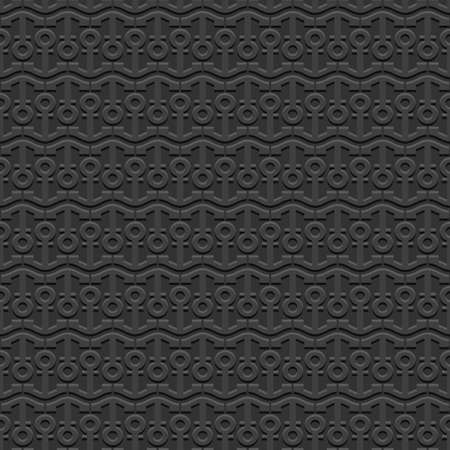 fluted: 3d Black nautical seamless pattern with stylized anchors. Marine Wallpaper. Sea theme. Vector background