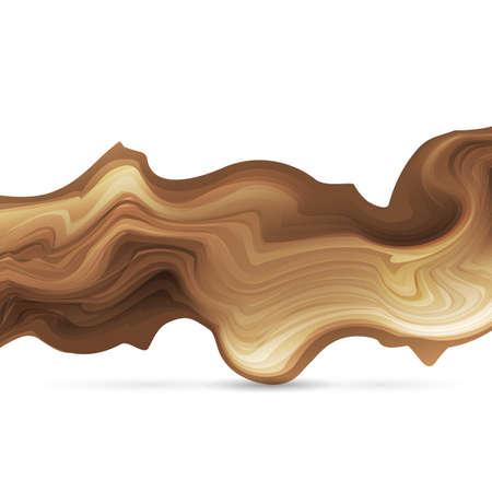 Astratto Forma di legno stilizzato. Elemento ondulato per il design. Illustrazione vettoriale