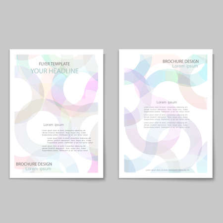 Abstract brochure cover template Vectores