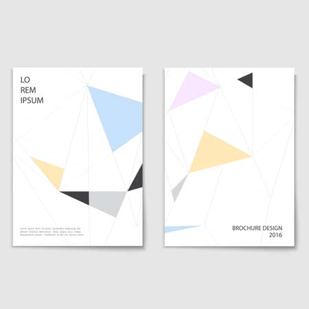 minimalistic: Minimalistic brochure cover template Illustration