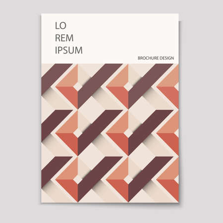 format: Modern brochure cover template with geometric pattern  Minimalist design creative concept cover for Leaflet,flyer,catalog, report, magazine. Abstract presentation in Vector format