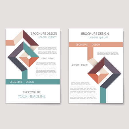 minimalist style: Modern brochure cover template with geometric shapes - minimalist style  Stylish design concept cover for Leaflet,flyer,catalog, report, magazine. Abstract presentation in Vector format