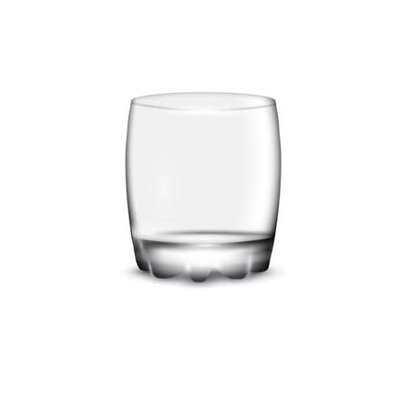 glass cup: Empty drinking glass cup on white. Vector illustration Illustration