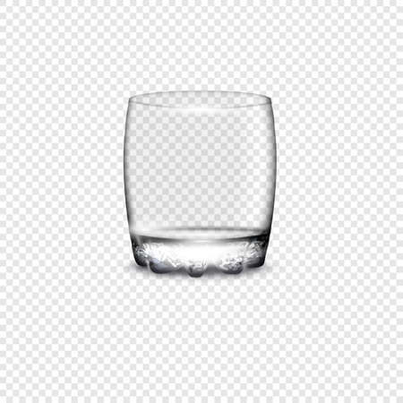 glass cup: Empty drinking glass cup. Vector illustration with transparency Illustration
