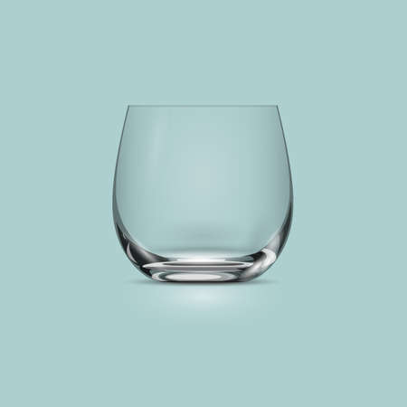 glass cup: Empty transparent drinking glass cup. Vector illustration