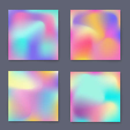 poster backgrounds: Fluid bright colorful backgrounds set. Design for greeting card, report, cover, book, print,poster,brochure,magazine. Vector template