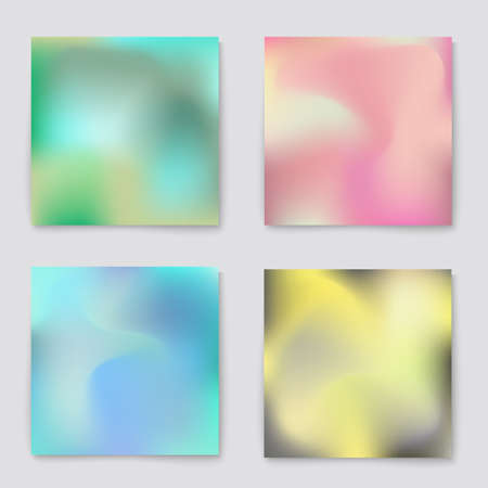 poster backgrounds: Fluid light colors backgrounds set. Design for greeting card, report, cover, book, print,poster,brochure,magazine. Vector template Illustration