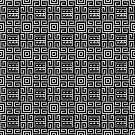 Black And White Tribal Ethnic Seamless Pattern Abstract Geometric Print Hipster Wallpaper