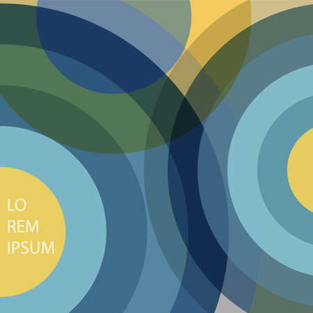 retro circles: Abstract background with circles in retro colors  Modern design creative concept cover for flyer,catalog, report, brochure. Blue,green,yellow colors vector background Illustration