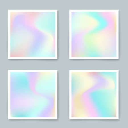 holography: Hologram hipster backgrounds set in pastel colors.Vector mesh template. Design for greeting card, report, cover, book, print,poster,brochure,magazine
