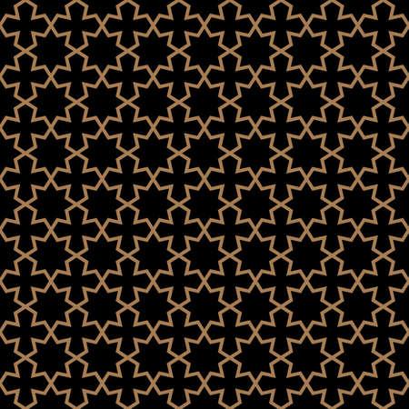 oscuro patrón transparente en estilo árabe con las estrellas.