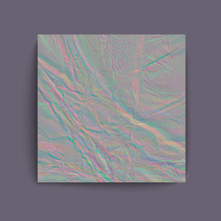 holographic: Holographic grey foil abstract background. Vector illustration creative project design