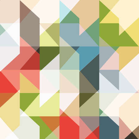 Seamless colored pattern of geometric shapes. Modern abstract background. Trendy vector wallpaper Illustration