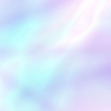Abstrato holográfico suave em tons claros pastel. Papel de parede na moda - estilo hippie. Ilustração vetorial para tendências de estilo moderno, para design de projeto criativo: web design ou produtos impressos