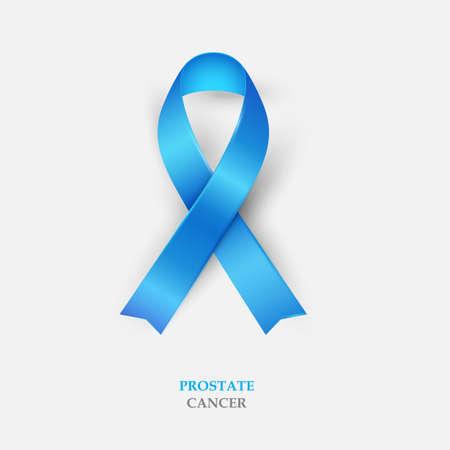 loop: Blue Silk Ribbon - Prostate Cancer Awareness. Concept World Prostate Cancer Day. Vector Illustration Illustration