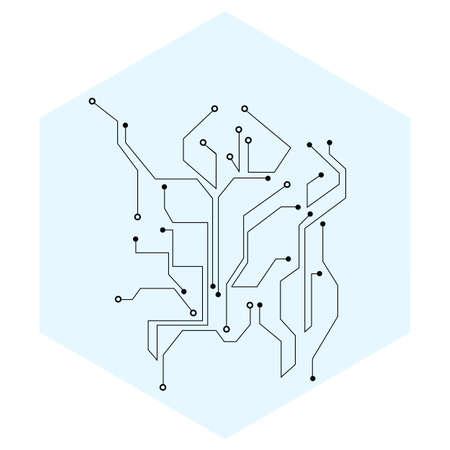 abstrakcja: Abstract circuit board minimal background. Technology modern background for design. Vector illustration Ilustracja