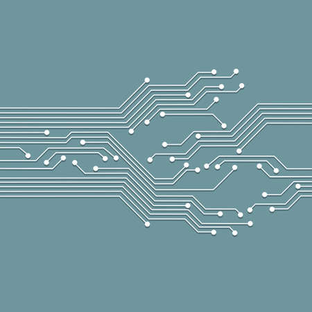 3d circuit abstract board background. High tech vector illustration