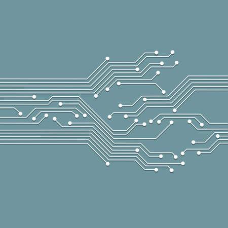 3d circuit abstrait. High tech illustration vectorielle