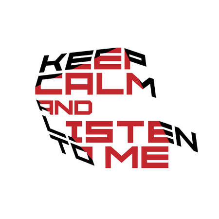 good color: Keep calm motivation quote red and black colors. Typography,print, poster, banner, flyer, postcard.Vector template Illustration