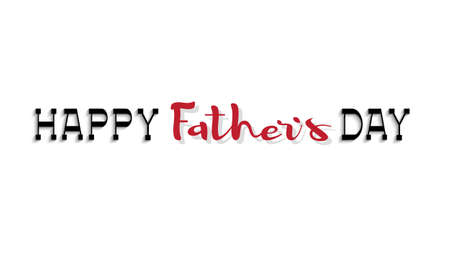 concept: Happy fathers day calligraphy lettering. Editale vector template for design