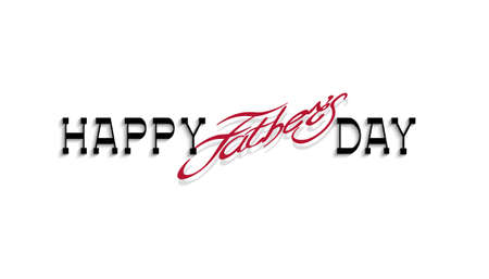 Happy fathers day handwritten calligraphy lettering. Editale vector template for design