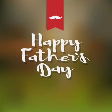 texture: Happy fathers day white handwritten lettering. Editale vector background for design