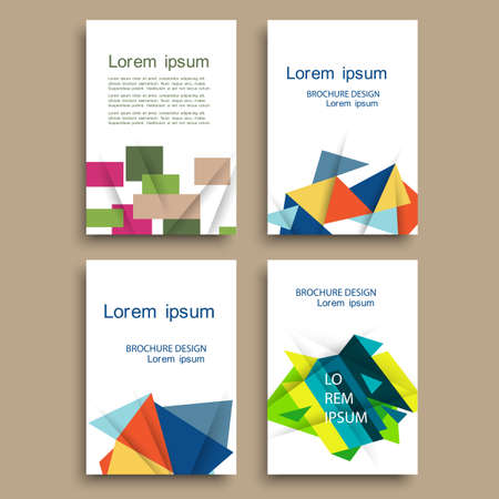 magazine design: Modern brochure cover template with color geometric shapes. Abstract design creative concept cover for flyer,catalog, report, brochure. Vector template Illustration