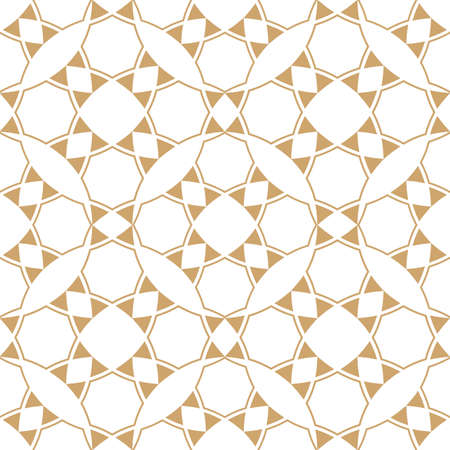 tile pattern: Abstract geometric ethnic pattern,gold and white texture. Seamless vector background, wallpaper