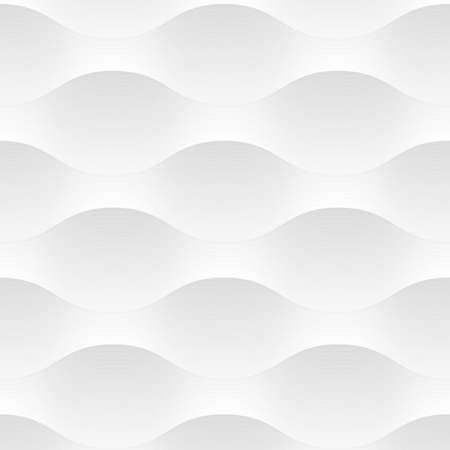 White seamless pattern background of abstract waves. Vector background. Grey and white texture, graphic pattern, wallpaper Illustration