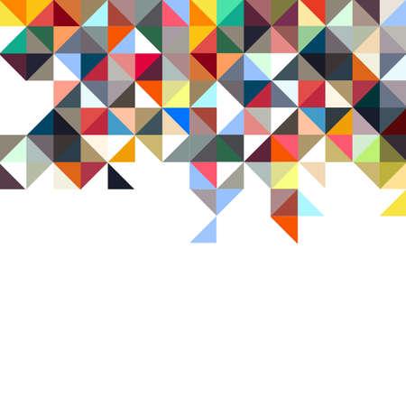 Background of geometric shapes,colorful mosaic. Vector mosaic illustration. Retro triangles background Illustration