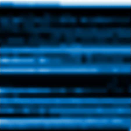 Glitch blauwe abstracte vectorachtergrond. Digitale beeldgegevensvervorming, signaalfout, televisie falen, digitaal verval. Trendy design behang, poster, brochure cover, website.
